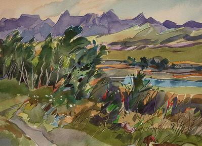 Brent Laycock, 'Waterton River Aspens', 2018