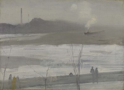 James Abbott McNeill Whistler, 'Chelsea in Ice', 1864