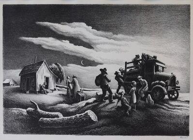 Thomas Hart Benton, 'Departure of the Joads', 1939