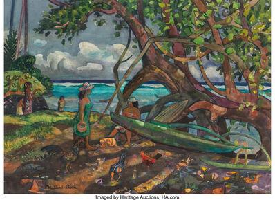 millard Sheets, 'Women at the Beach, Tahiti', 1973