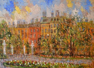 Samir Sammoun, 'View on Commonwealth Avenue from Boston Park', 2015