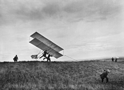 Jacques Henri Lartigue, 'The Lartigue Glider, Rouzat, Auvergne, France', 1910