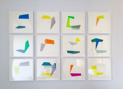 Agnes Barley, 'Untitled Collage (Deconstructed Waves) Installation', 2016