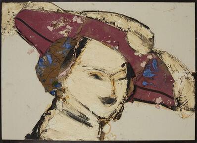Manolo Valdés, 'Dama con sombrero rojo y blanco', 2016