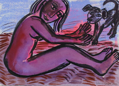 Eileen Cooper, 'Girl with Dog'