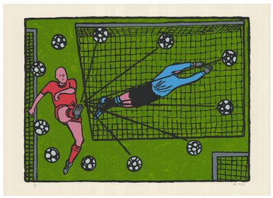 Derek Boshier, 'Football', 2002