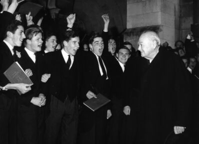Harry Benson, 'Sir Winston Churchill at Harrow School', 1961
