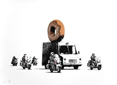 Banksy, 'Chocolate Donuts signed', 2009
