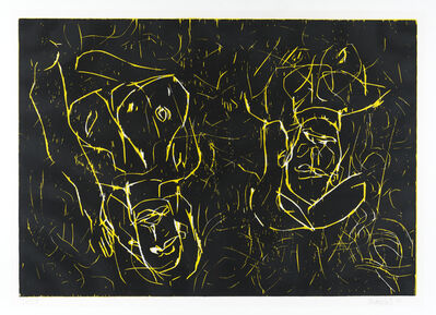 Georg Baselitz, 'Woman and woman', 1993-1994