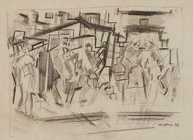 John Marin (1870-1953), 'Figures Downtown, New York City', 1932