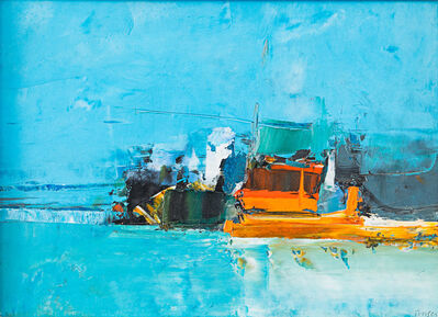 Donald Hamilton Fraser, 'Port - Orange and Blue', 1966