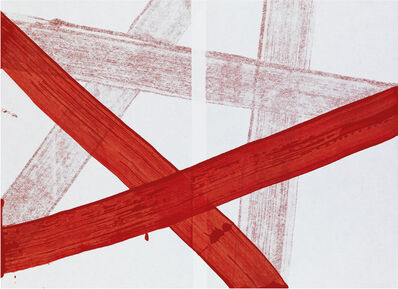 Hadas Hassid, 'Untitled (Paper Wrapped by Red Line)'