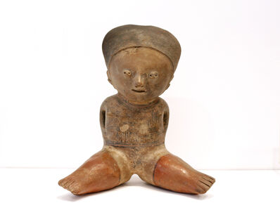 Unknown Pre-Columbian, 'Seated Figure Nayarit Chinesca', 200-900