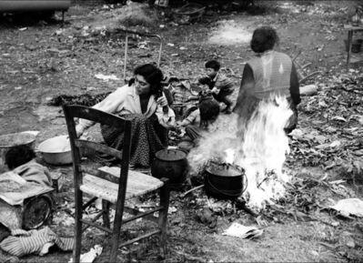 Lucien Clergue, 'Campement gitan Rocheville', 1958