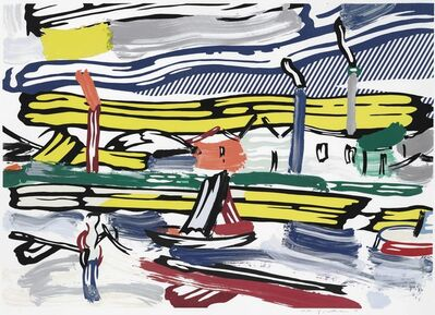 Roy Lichtenstein, 'The River, from Landscapes', 1985