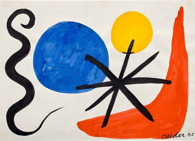 Alexander Calder, 'Blue and Yellow Spheres', 1965