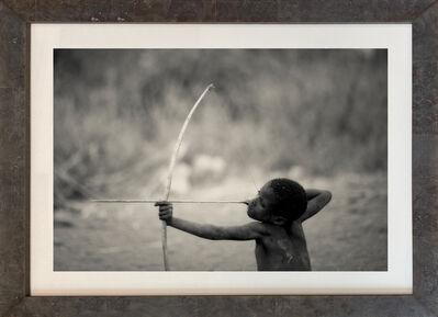 Nicol Ragland, ''HADZABE,' Tanzanian Child with Bow, Black and White Photograph by Nicol Ragland', 2015
