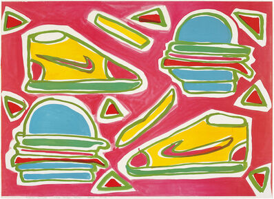 Katherine Bernhardt, 'Cheeseburger Deluxe', 2016