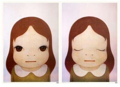 Yoshitomo Nara, 'Cosmic Girl (Eyes Open, Eyes Shut)(Two Works)', 2008