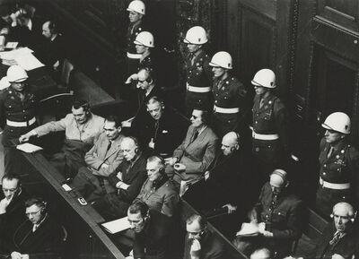 Yevgeny Khaldei, 'The Dock, Defendants on Trial, Nuremberg', 1946