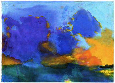 Emil Nolde, 'Meer mit hellvioletter Wolke', Undated