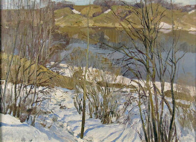 German Alexeevich Tatarinov, 'Winter Stream', ca. 1990