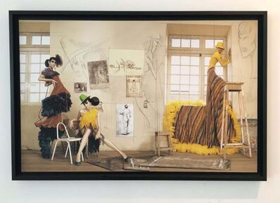 "Efren Isaza, '""Haute Color Yellow Dress"", Archival intervened Pigment Print Photograph, framed', 2009"