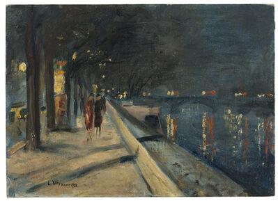 Lesser Ury, 'Quai du Louvre, Paris', 1928