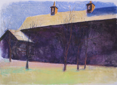 Wolf Kahn, 'Large Purple Barn', 1995