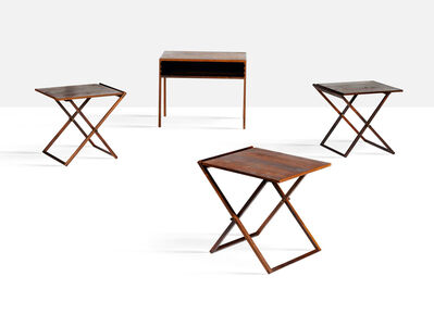 Illum Wikkelsø, 'Set of 3 folding tables', 1960