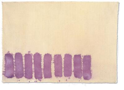Giorgio Griffa, 'Violetto verticale', 1977
