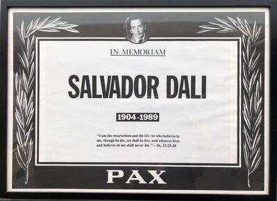 Trey Speegle, 'Salvador Dali Memorial Poster', 1989