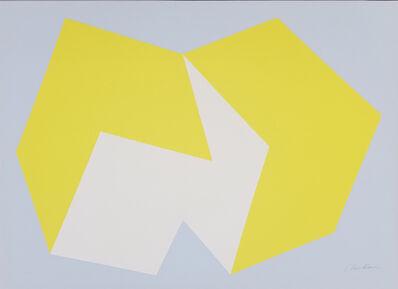 Charles Hinman, 'Lemon Yellow on Gray', 1972
