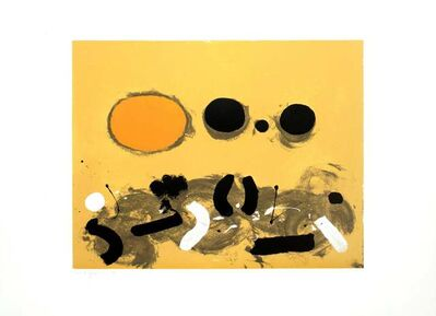 Adolph Gottlieb, 'Orange oval', 1972