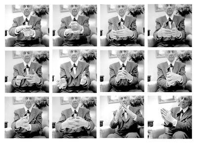 Pedro E. Guerrero, 'Frank Lloyd Wright Demonstrates Organic Architecture, Plaza Hotel, New York, NY', 1953