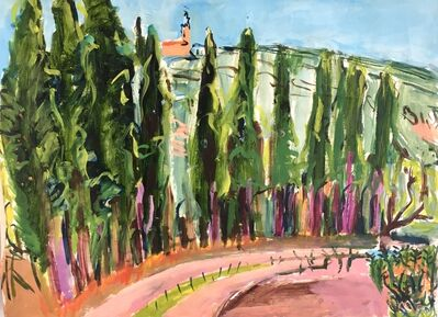 Elizabeth Cope, 'Cypresses on Road, Domaine des Anges ', 1997