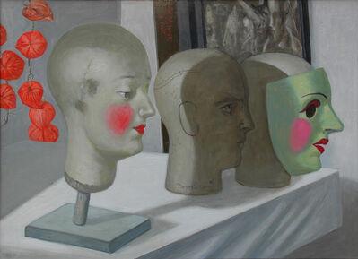 Volker Stelzmann, 'Köpfe - Masken - Lampionblume', 2015