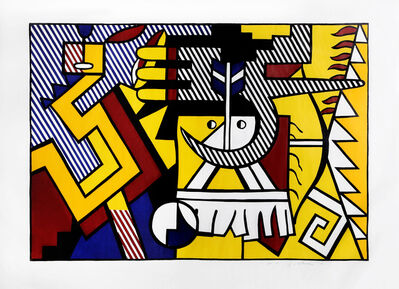 Roy Lichtenstein, 'American Indian Theme VI (C. 165)', 1980