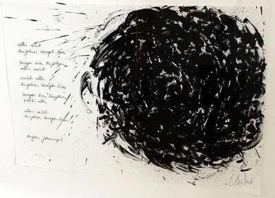 """Günther Uecker, '""""Alles ruht, einzelnes bewegt sich""""', 1987"""