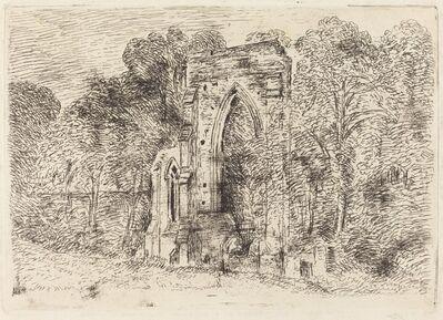 John Constable, 'The Ruins of Netley Abbey', ca. 1826