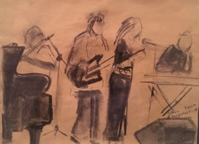 Sam Nhlengethwa, 'Musicians', 2000