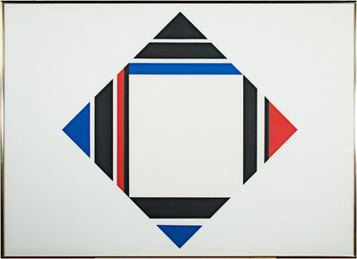 Ilya Bolotowsky, 'Red/Blue/Black Diamond', c. 1970