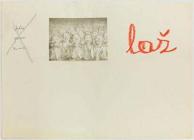 Mladen Stilinovic, 'Ljeto, jesen, zima, laž (Summer, Fall, Winter, Lie)', 1973