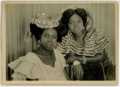MAMA CASSET, 'Sans titre (deux jeunes filles avec coiffes)', ca. 1950