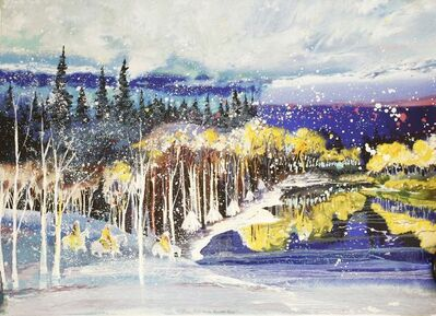 Earl Biss, 'EARLY SNOW IN THE BEARTOOTH RANGE', 1992