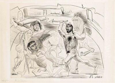 Pablo Picasso, 'Le Combat dans l'arène (B. 301; BA. 629)', conceived 10 October 1937