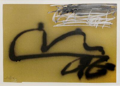 Antoni Tàpies, 'Grafisme sobre ocre', 1988
