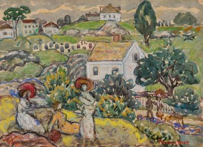 Maurice Brazil Prendergast, 'Farm House near Annisquam, Massachusetts', circa 1916-1919