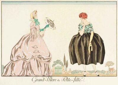 George Barbier, 'Grand-mere et Petite-fille', 1920