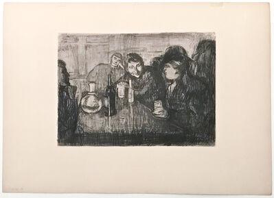 Edvard Munch, 'Kristiania Bohème I', 1895